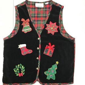 Ugly Christmas sweater appliques Vintage