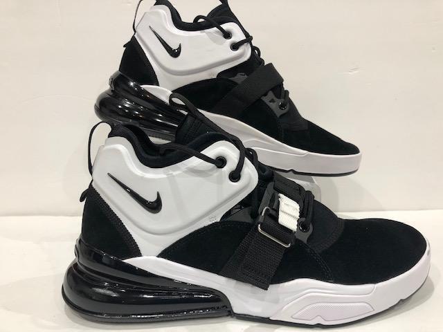 Nike Air Force 270 Black Metallic Silver White AH6772 006 Mens Sneaker