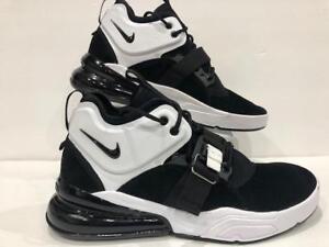Nike Air Force 270 Black Metallic Silver White AH6772 006 Mens ... 23d3077d5