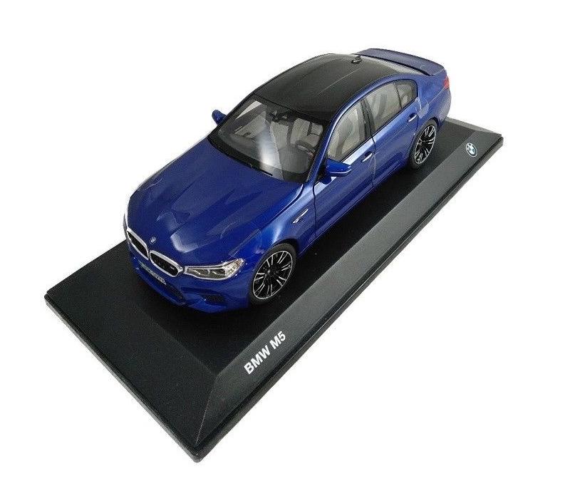 Nuovo Originale BMW Miniatura M5 F90 Marina Bay Blu 1:18 2454783 OEM