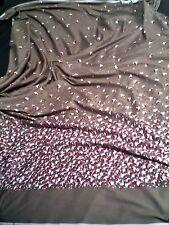 piece de tissu coton motifs colorés -  fleurs -- 102 x 158 cm