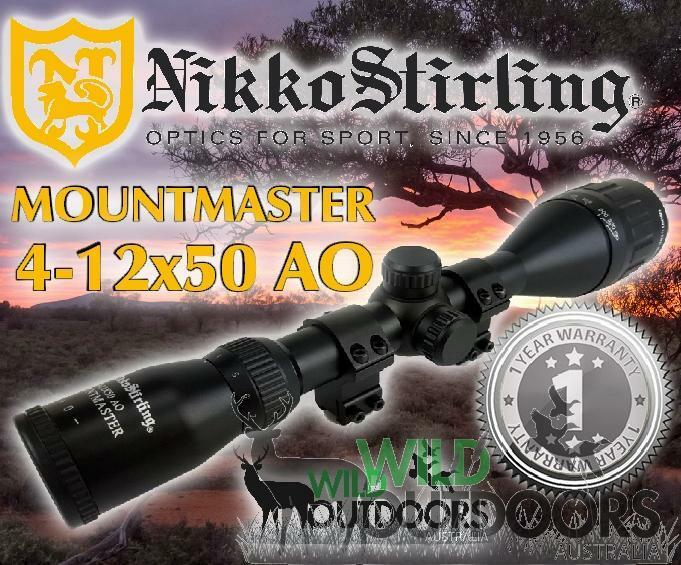 Nikko Stirling - Rimfire Rifle Scope - MountMaster - 4-12x50mm AO