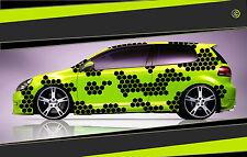 Camouflage Aufkleber Set Cyber Pixel Autotattoo Auto Sticker Tuning JDM 7.2112