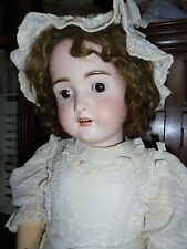 SUPERB HUGE 34 INCH ANTIQUE GERMAN MOLD 130 COMPANION DOLL