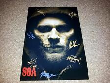 """SONS OF ANARCHY CASTX7 PP SIGNED POSTER 12""""X8"""" CHARLIE HUNNAM JIMMY SMITS SOA S7"""