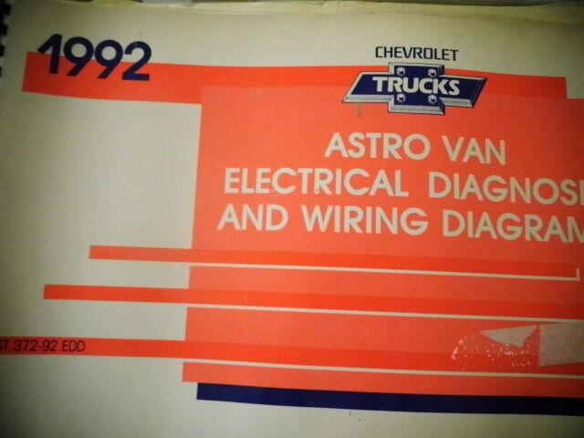 1992 Chevrolet Trucks Astro Van Electrical Diagnosis Wire