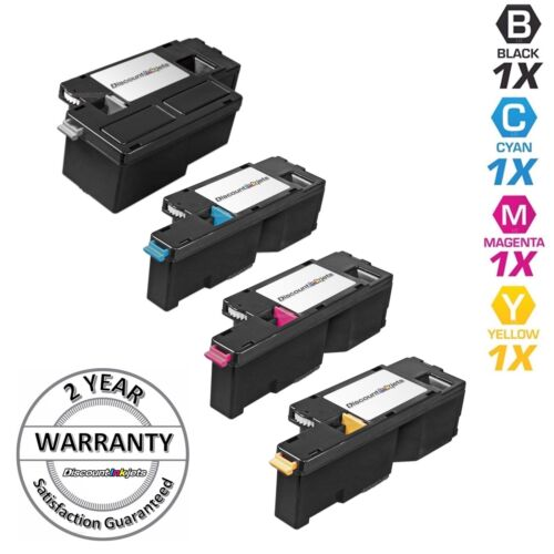 4pk Comp Toner Cartridges for Xerox Phaser 6010 6000 Black Cyan Magenta Yellow