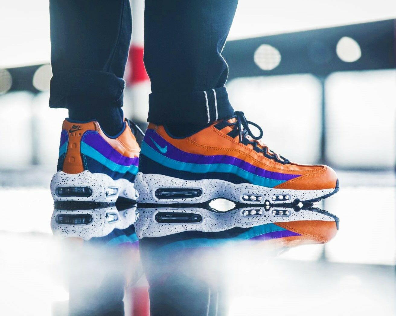BNWB & Authentic Nike Air Max 95 Premium ®  Monarch  Trainers UK Size 8.5