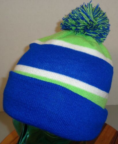 "MENS SEATTLE SEAHAWKS ""GO HAWKS"" WINTER BEANIE HAT"