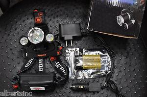 BORUiT-12000-Lumen-Headlamp-XM-L-3x-T6-LED-Headlight-18650-Light-Charger-Battery
