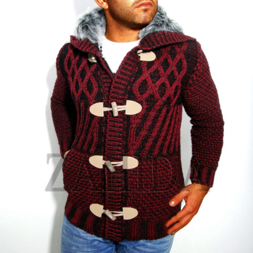 Young /& Rich Uomo a Maglia-Pullover Maglione norvegesi Giacca Cardigan Hoodie Nuovo