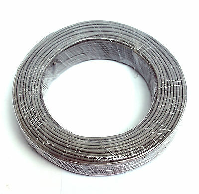 50m φ3mm 3mm Shielding Signal Cable Wire 2C 26AWG White Tin-plated copper wire