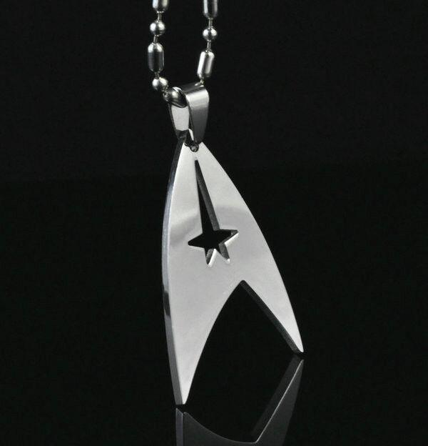 Chain Pendant Fashion Star Trek Necklace Party Gift Men Boy
