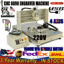 15kw Usb 110v 4axis 6090cnc Router Drill Engraver Engraving Machine Woodworking