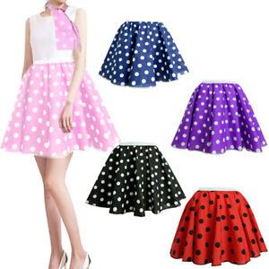1bf3e2cf40bc Ladies 17''/21'' Polka Dot Rock N Roll Fancy Skirt & Scarf Set 1950s ...