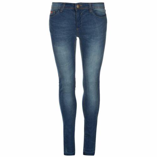 Lee Cooper Womens Skinny Hem Jeans Pants Trousers Bottoms Lightweight Zip Fit