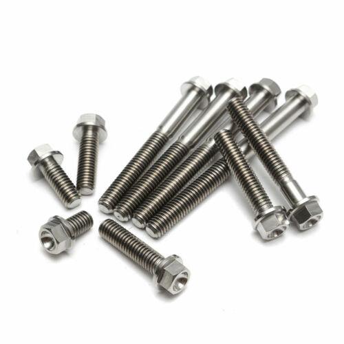 M6 Titanium TI Hex Head Flange Bolt Screws 10 15 20 25 30 35 40 45 50 55 60 65mm