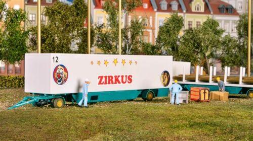 Kibri 14658 H0 LKW Zirkus Zeltstangen und Kofferanhänger 2x