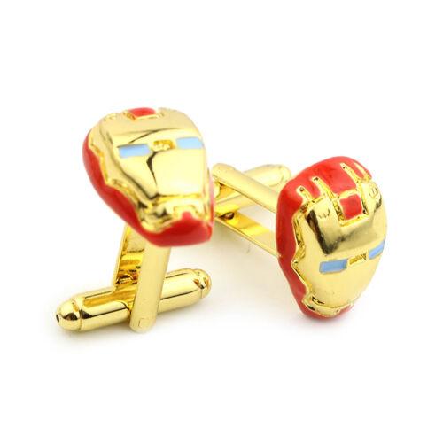 The Avengers Super Hero 3D Iron Man Men/'s Wedding Party Groom Shirt Cufflinks