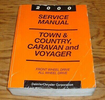 2000 Chrysler Town /& Country Dodge Caravan Service Manuals Manual SET OEM