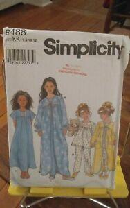 Oop-Simplicity-8488-girls-sleepwear-pjs-robes-shaped-front-sz-7-12-NEW