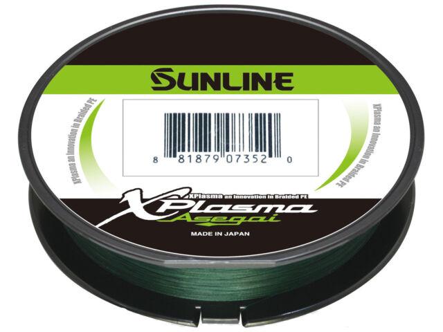 Sunline Asegai Xplasma Braided Linie 600yds P.E 1.7 18lb Light Green 5080