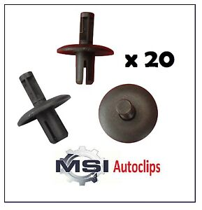 20-x-AUDI-Wheel-Arch-Lining-Clip-Fastener-Retainer-Expanding-Rivet