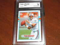 Dan Marino GRADED CARD!!! Mint 9!! 1989 Topps #293 Dolphins HOFer!! 9-!!