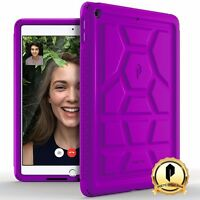 Poetic Apple Ipad 9.7 [turtle Skin] Shockproof Case Rugged Silicone Cover Purple