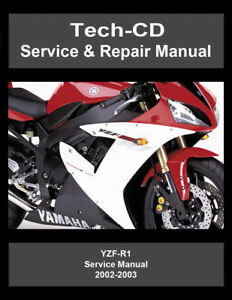 yamaha yzf r1 service repair manual yzfr1 2002 2003 ebay rh ebay com Yamaha YZF- R15 Yamaha YZF- R15
