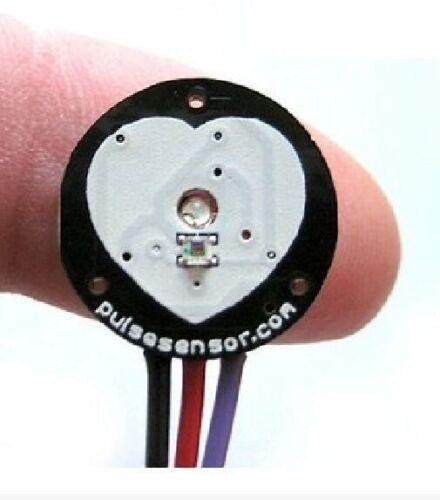 Pulse Heart Rate Sensor PulseSensor Analog Signal Output Raspberry pi Arduino