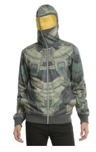 Halo-Master-Chief-Cosplay-Full-Zip-Hoodie-hoody-new-with-tags-Size-Mens-Medium