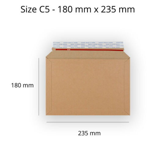 Libro de capacidad de buena calidad Mailer C5//A5 tamaño Manila Peel /& Seal Sobres Barato