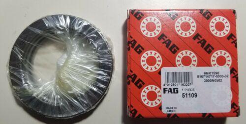 FAG 51109 Thrust Ball Bearings 45x65x14mm.