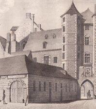 Monuments Anciens Château des Comtes de Flandres Lille Nord 1837