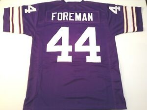 Details about UNSIGNED CUSTOM Sewn Stitched Chuck Foreman Purple Jersey - 3XL