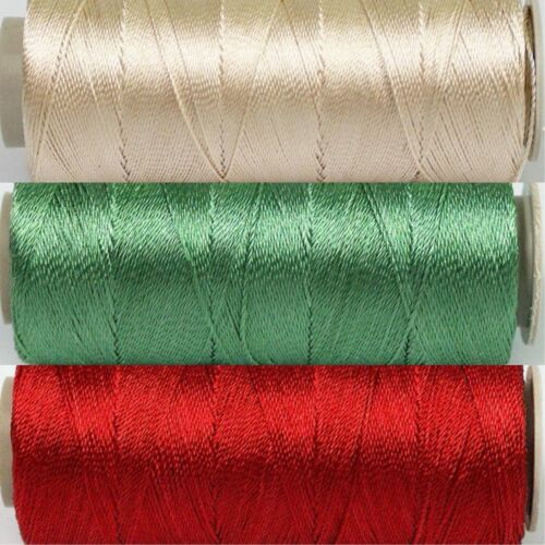 Holly Thread Set 3 Spools Size 12-25gr 328yd ea Poly Embroidery Cross Stitch