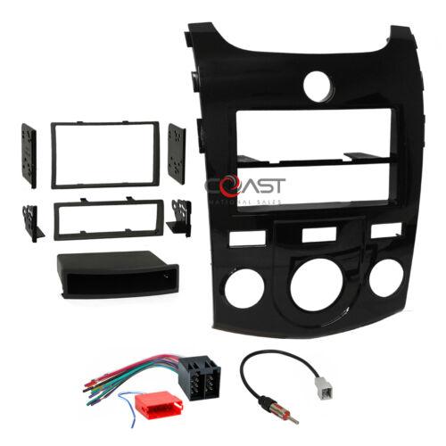 Metra Car Radio Stereo Din 2Din Gloss Dash Kit Harness for 2010-2013 Kia Forte