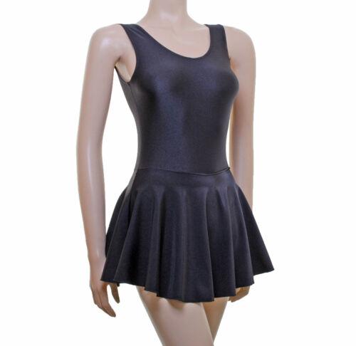 SARAH Leotard Dress Sleeveless Plain Front Ballet Colours