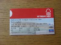 28/04/2001 Ticket: Nottingham Forest v Gillingham. No obvious faults, unless des
