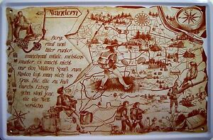 Occupation Hiking Hikers Metal Tin Plate Sign Tin Sign 20 X 30 CM