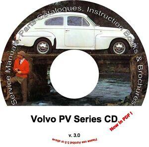 volvo pv parts service manual cd catalogs extra ebay rh ebay com service manual volvo bl70 Volvo Car Manuals