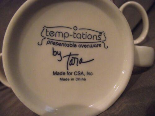 Set of 3 Temp-tations by Tara Candy Cane Striped Mugs