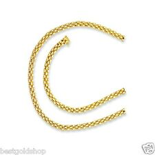 """17""""  4mm 3 Row Panther Link Chain Necklace Real Solid 14K Yellow Gold 17.8gr"""