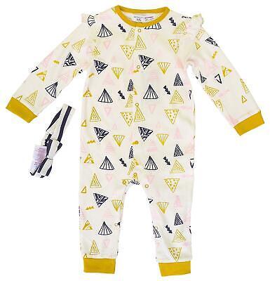 Get Wivvit Baby Mustard Bear Cactus Sleepsuit Cotton Romper Sizes from Newborn to 12 Months