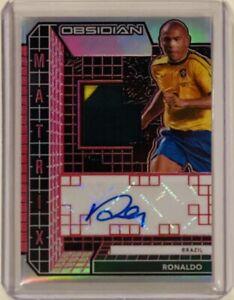 2020-21 Panini Obsidian Matrix Patch Autograph Red 3/3 Ronaldo Brazil