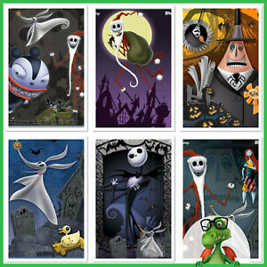 Disney-Collect-Topps-Digital-NIGHTMARE-BEFORE-CHRISTMAS-Color-Poster-Set-Award