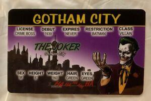 El Guasón Gotham City ID Novedad licencia Cosplay Batman Villano animado
