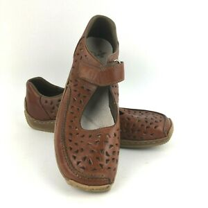 Rieker-Anti-Stress-Shoes-Women-039-s-Size-40-Slip-On-Casual-Mary-Jane-Brown