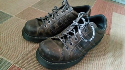 DOC Dr Martens BRODEN Retro Brown Work Shoes Thick